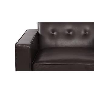Кресло Eleanor, коричневое кожаное