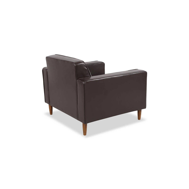 Коричневое кожаное кресло Eleanor