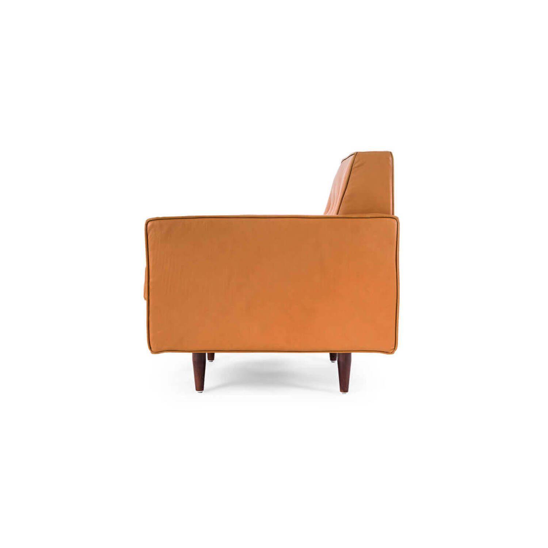 Оранжевое кресло Eleanor, экокожа