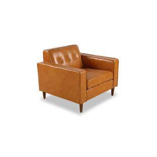 Кресло Eleanor, оранжевое кожаное
