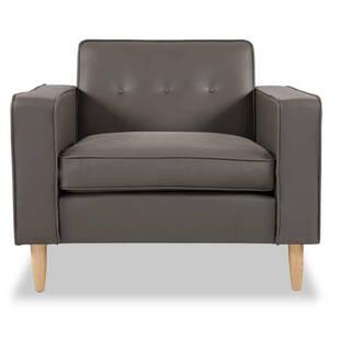 Кресло Eleanor, серое кожаное