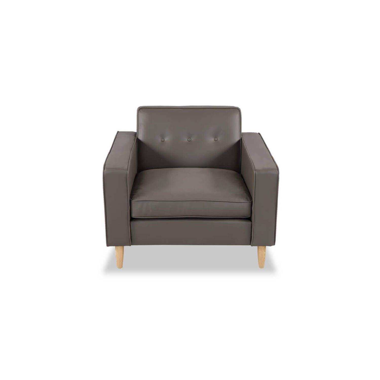 Кресло Eleanor, серое кожаное купить
