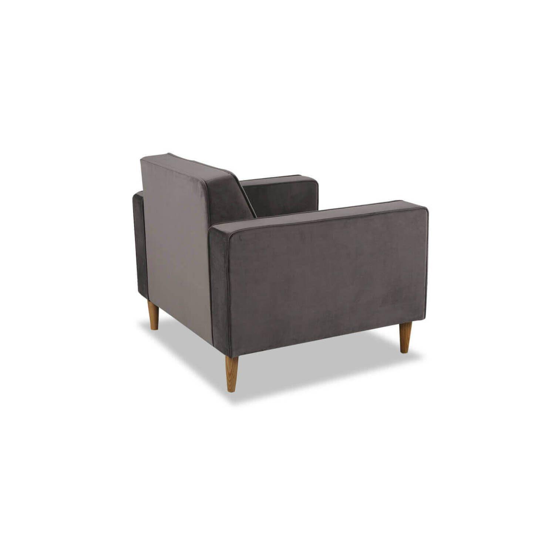 Стильное кресло Eleanor, серый вельвет