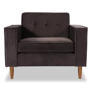 Кресло Eleanor, шоколадное, вельвет