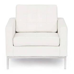 Кресло Florence, белое, экокожа