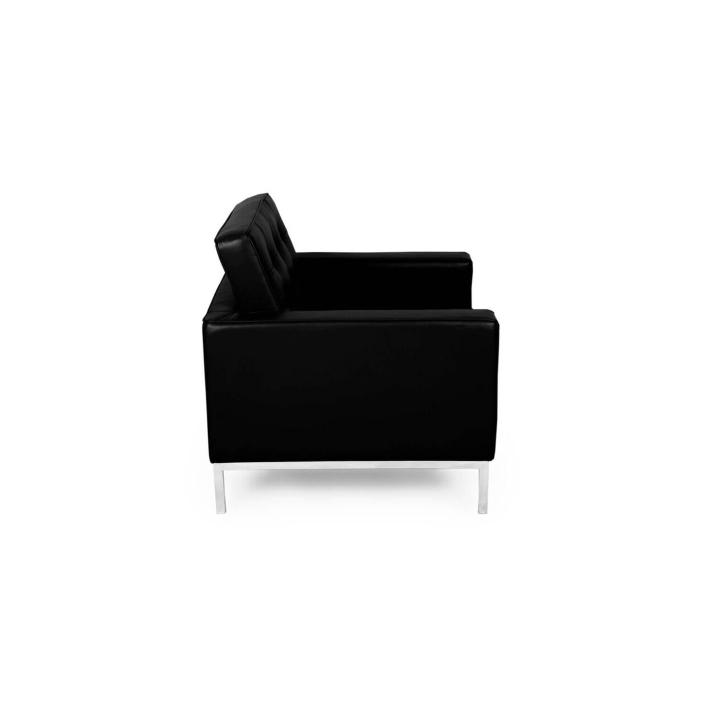 Черное кресло Florence, натуральная кожа
