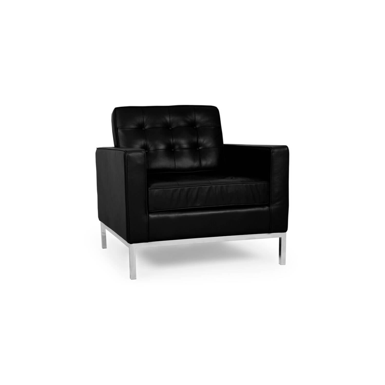Кресло Florence, черное, кожаное