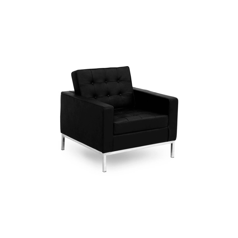 Черное кресло Florence, экокожа