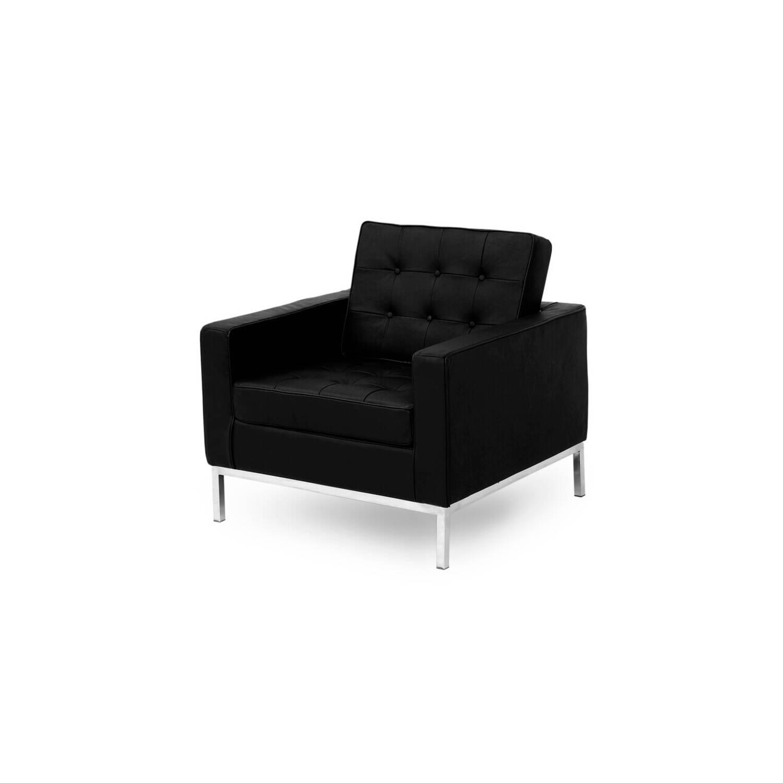 Кресло Florence, черное, экокожа купить