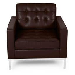 Кресло Florence, коричневое, кожаное