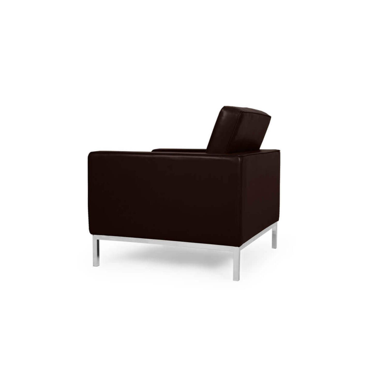 Коричневое кресло Florence, натуральная кожа