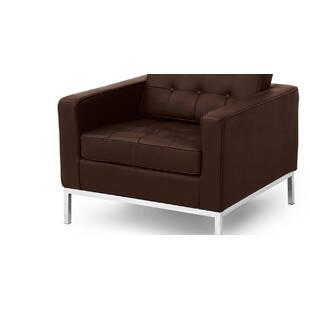 Кресло Florence, коричневое, экокожа
