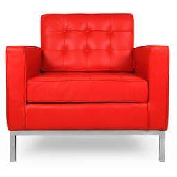 Кресло Florence, красное, кожаное
