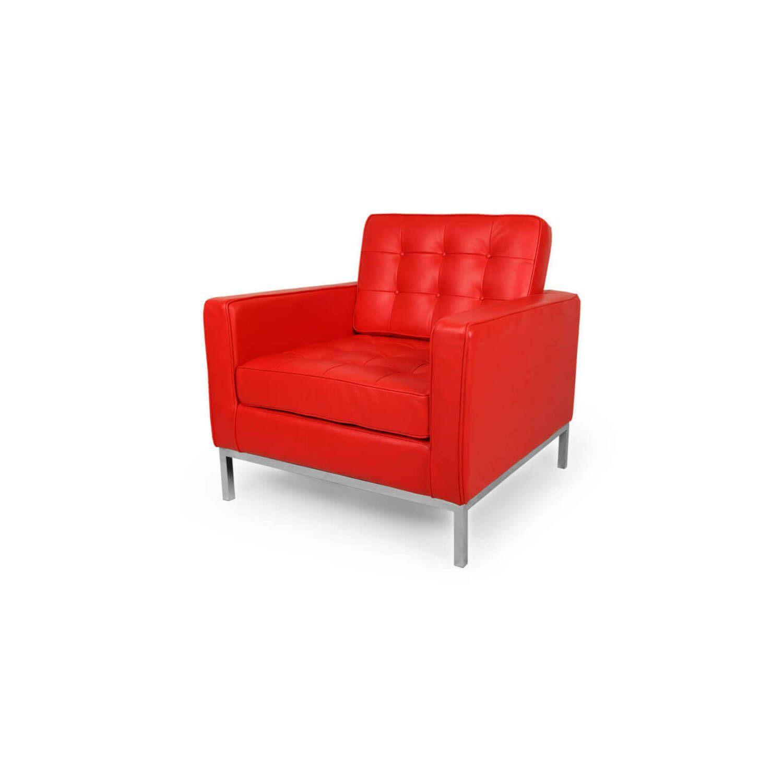 Кресло Florence, красное, кожаное купить