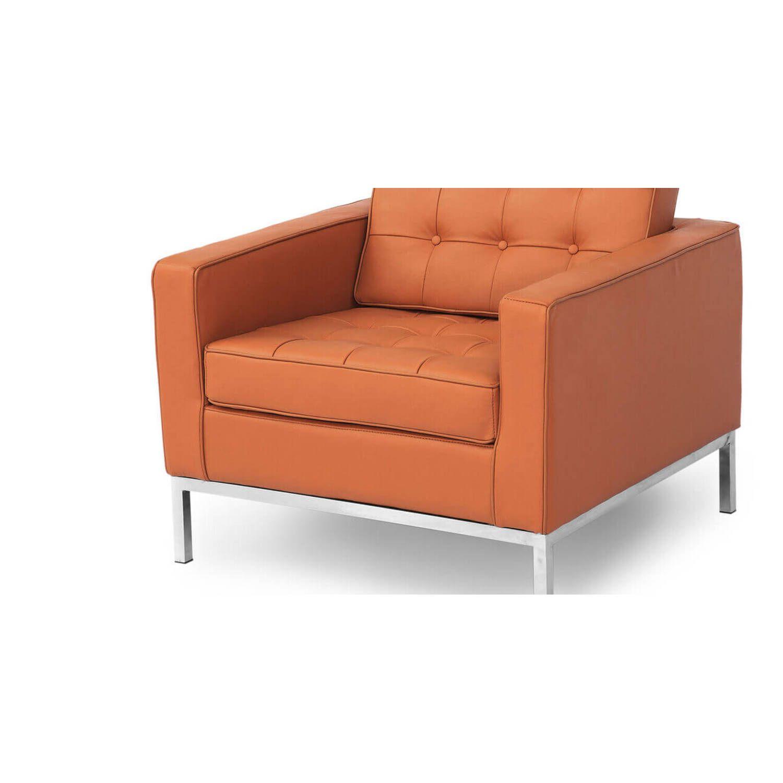 Кресло Florence, оранжевое, экокожа