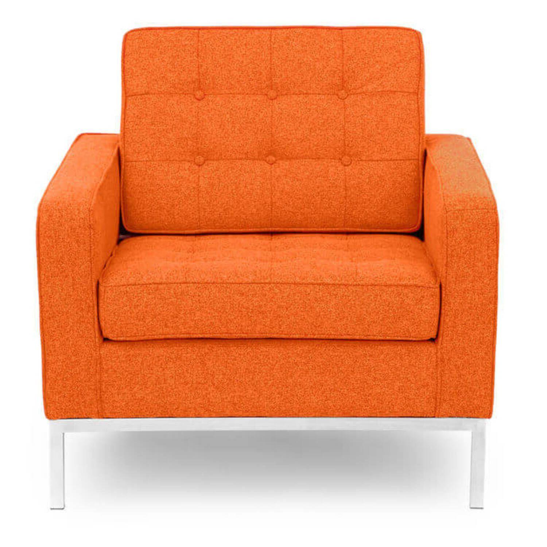 Оранжевое кресло Florence, экокожа