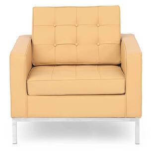 Кресло Florence, песочное, кожаное