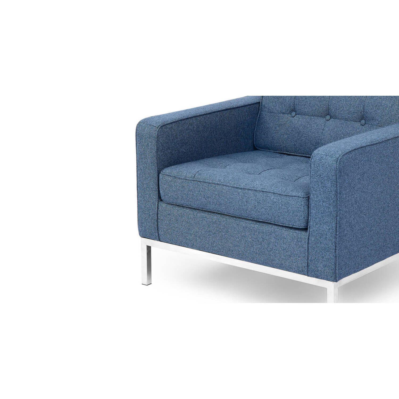 Синее кресло Florence, экокожа