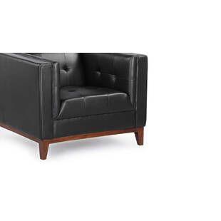 Кресло Harrison, черное, кожаное