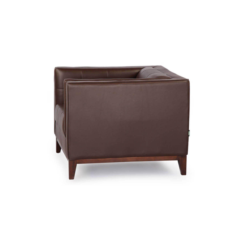 Кресло Harrison, коричневое, кожаное