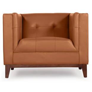 Кресло Harrison, рыжее, кожаное