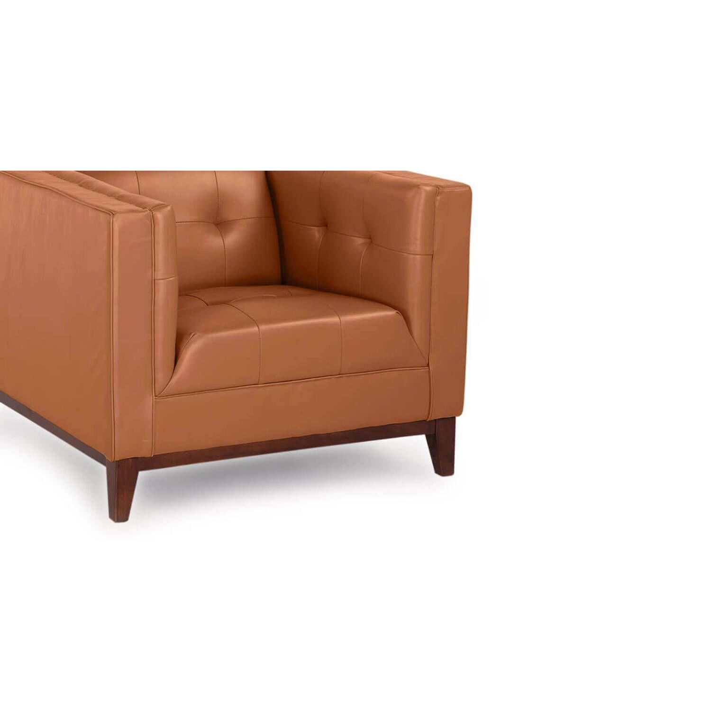 Рыжее кресло Harrison, натуральная кожа