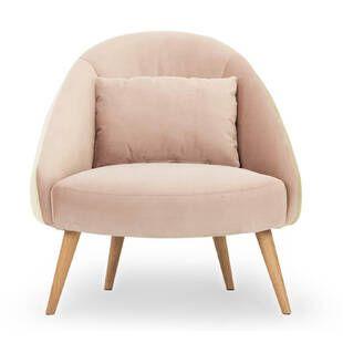Кресло Jester, бежевое + розовое