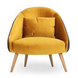 Кресло Jester, желтое + серое