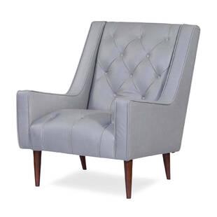 Кресло Krisel, серое, экокожа