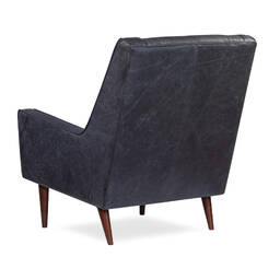 Кресло Krisel, черное, натуральная кожа