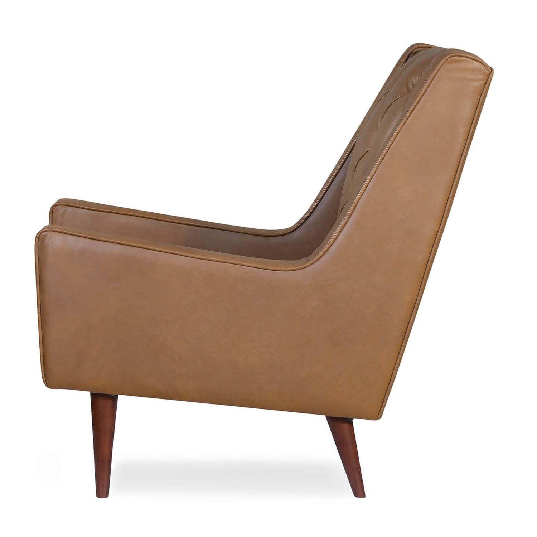 Кресло Krisel, коричневое, натуральная кожа
