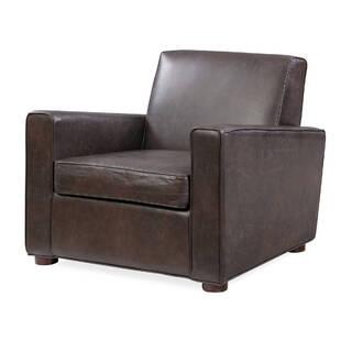 Кресло Maxwell, темно-коричневое, натуральная кожа