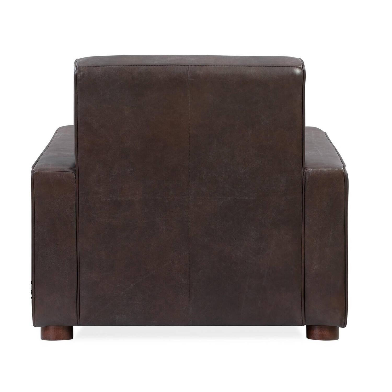 Кресло Maxwell, темно-коричневое, натуральная кожа купить
