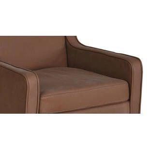 Кресло Mogenson, коричневое, натуральная кожа