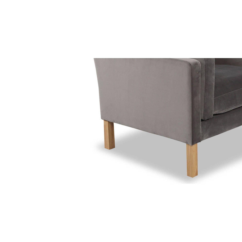Кресло Monroe серый вельвет