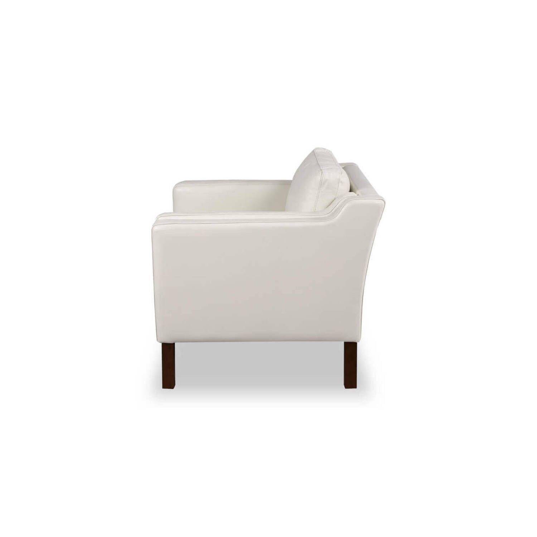 Кресло Monroe, белое кожаное купить