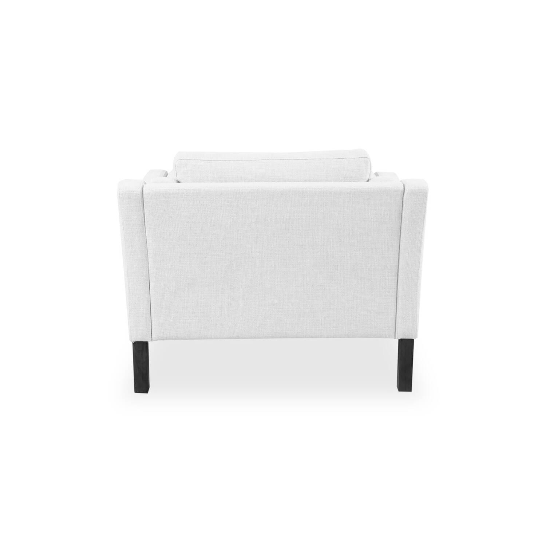 Белое кресло Monroe в скандинавском стиле