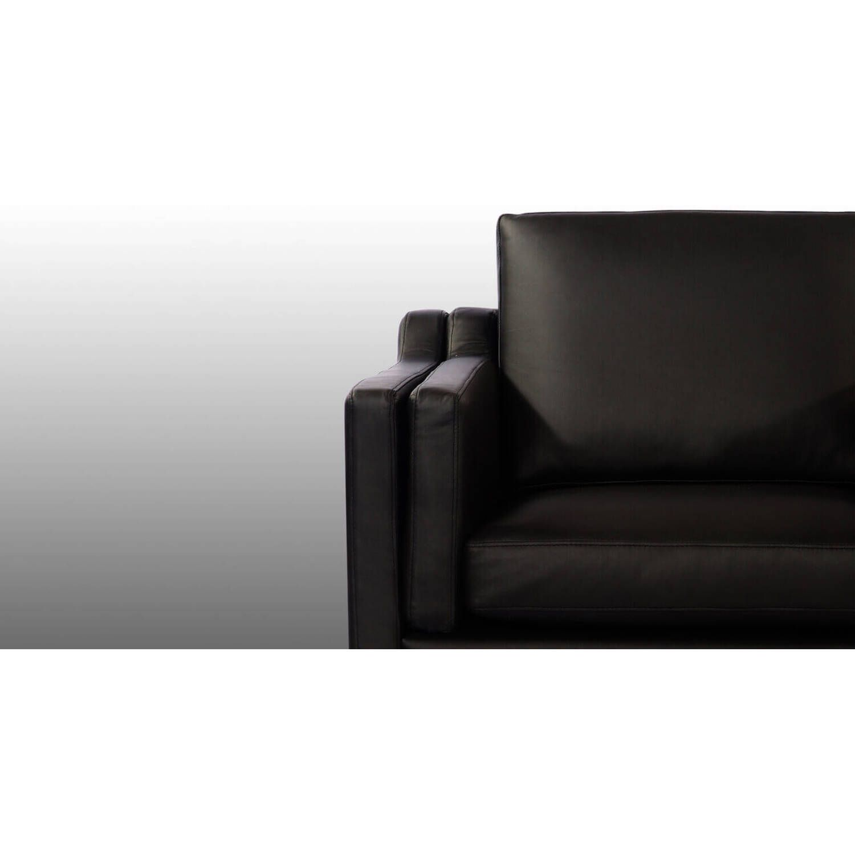 Кресло Monroe, черное, экокожа