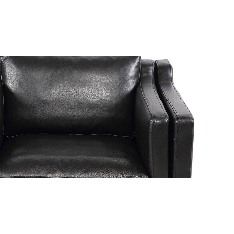 Черное кресло Monroe, натуральная кожа, скандинавский стиль