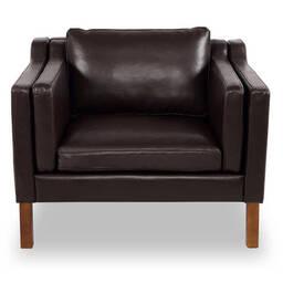 Кресло Monroe, коричневое кожаное купить