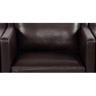 Кресло Monroe, коричневое кожаное