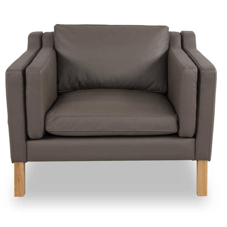 Кресло Monroe, серое, экокожа купить