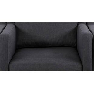 Кресло Monroe серо-синее