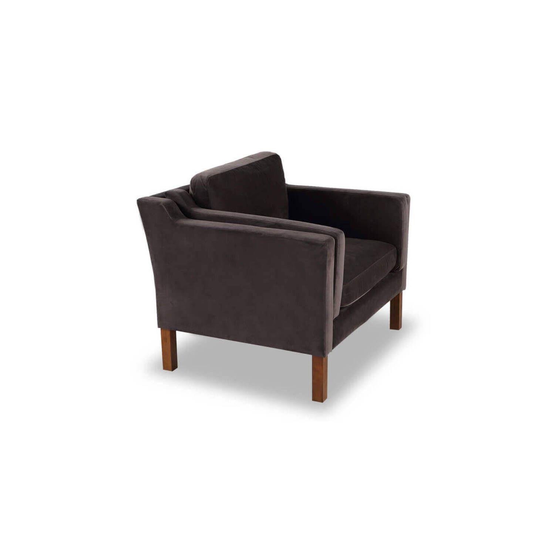 Кресло Monroe шоколадный вельвет