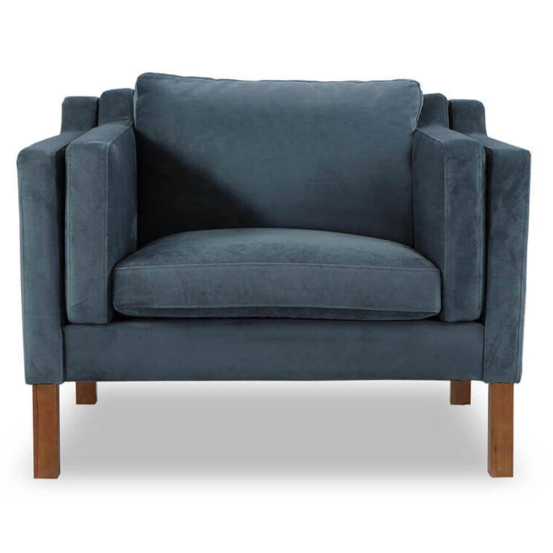 Синее кресло Monroe, скандинавский стиль