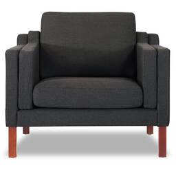 Темно-серое кресло Monroe, скандинавский стиль