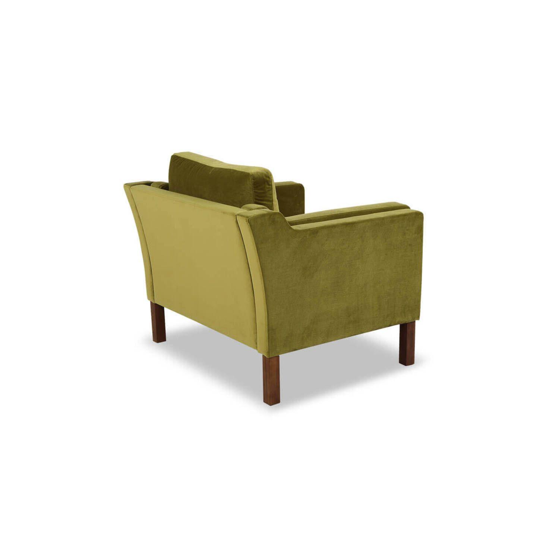 Зеленое кресло Monroe, вельвет, скандинавский стиль