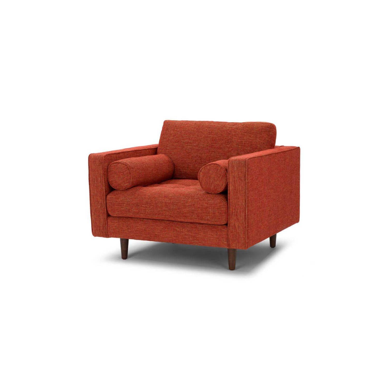 Стильное дизайнерское красное кресло Sven