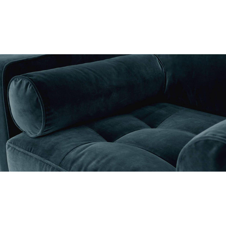 Стильное дизайнерское кресло Sven цвета морской волны
