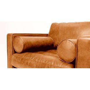Кресло Sven, оранжевое кожаное